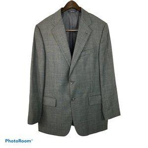 Joseph Abboud 40R Gray Wool Glen Plaid Sport Coat
